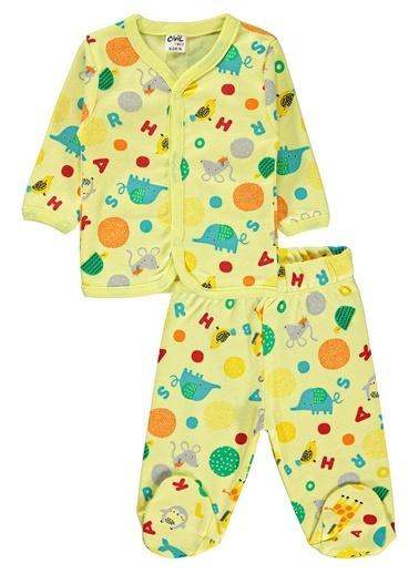 Civil Baby Erkek Bebek Pijama Takımı Sarı